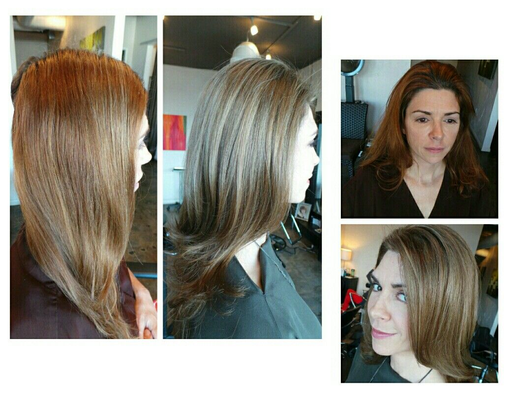 Taking A Brassy Brunette And Fixing Her Color Takes A Color