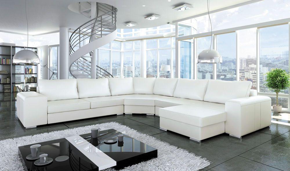 Couchgarnitur Sofa Couch ASPEN Sofagarnitur Polsterecke Big Sofa  Wohnlandschaft