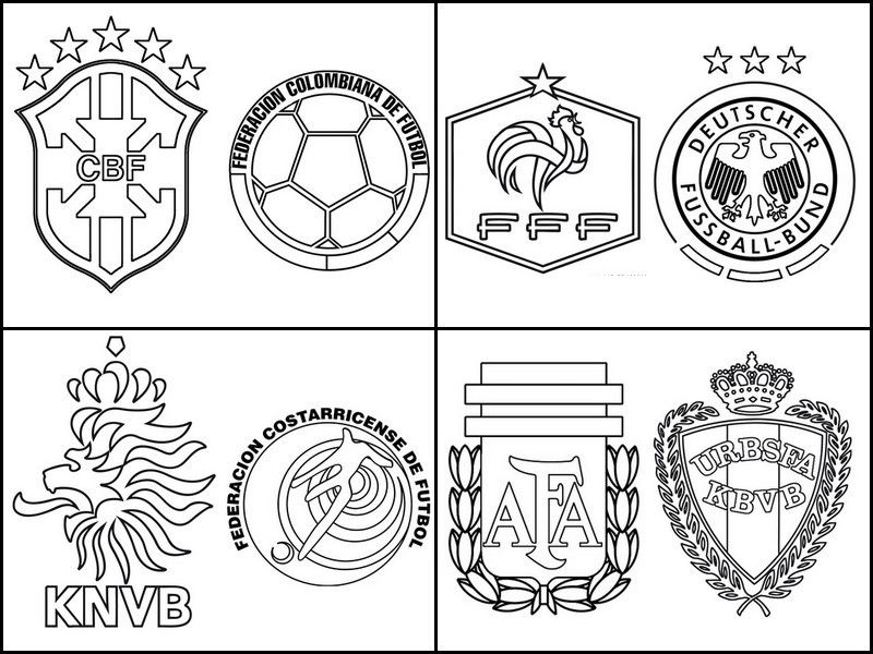 fifa 2014 coloring pages - photo#14