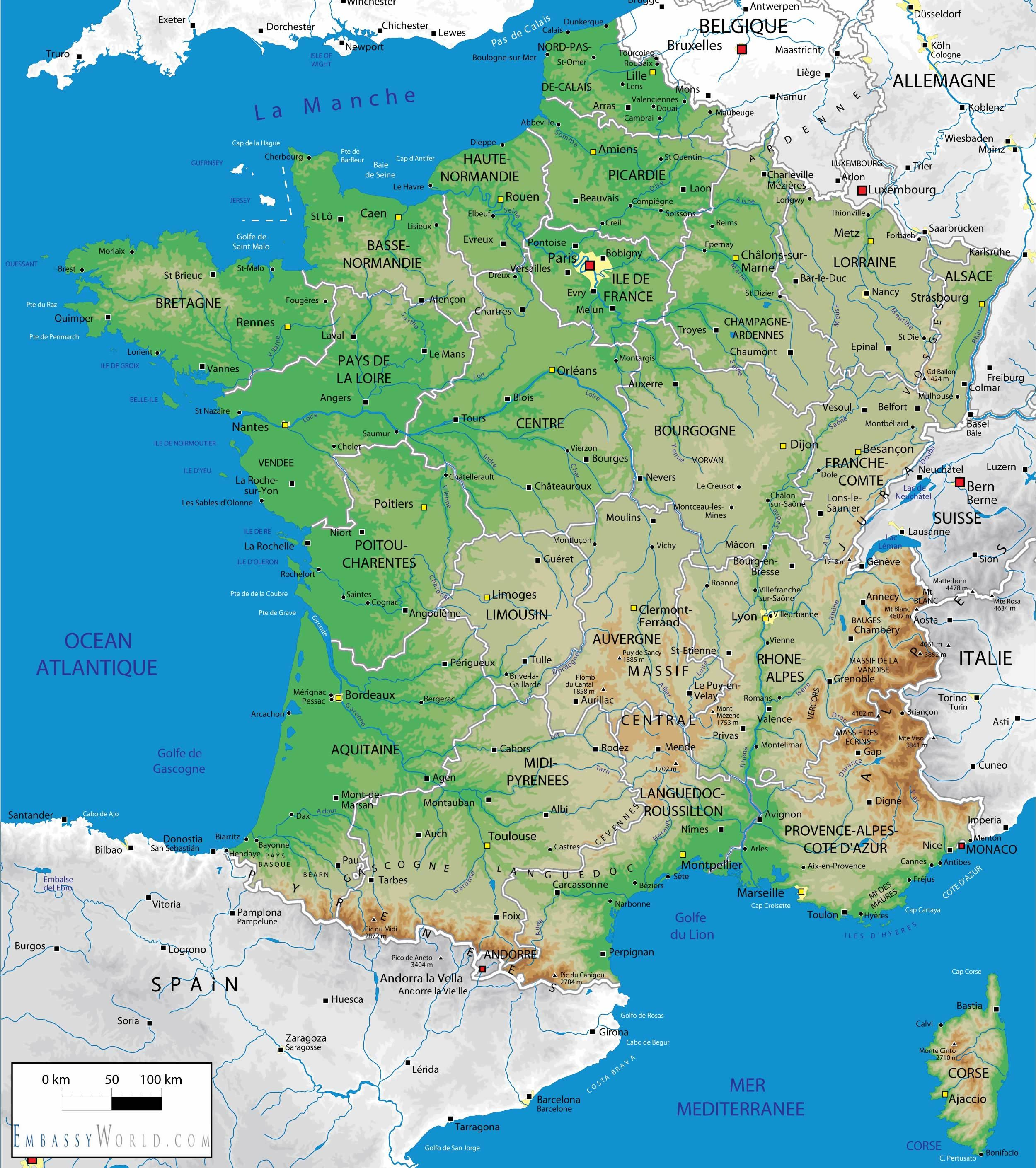 map of france Tour De France Ideas Pinterest France
