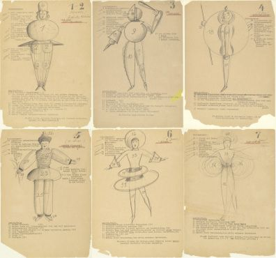 Oskar Schlemmer, costume designs for the Bauhaus theater