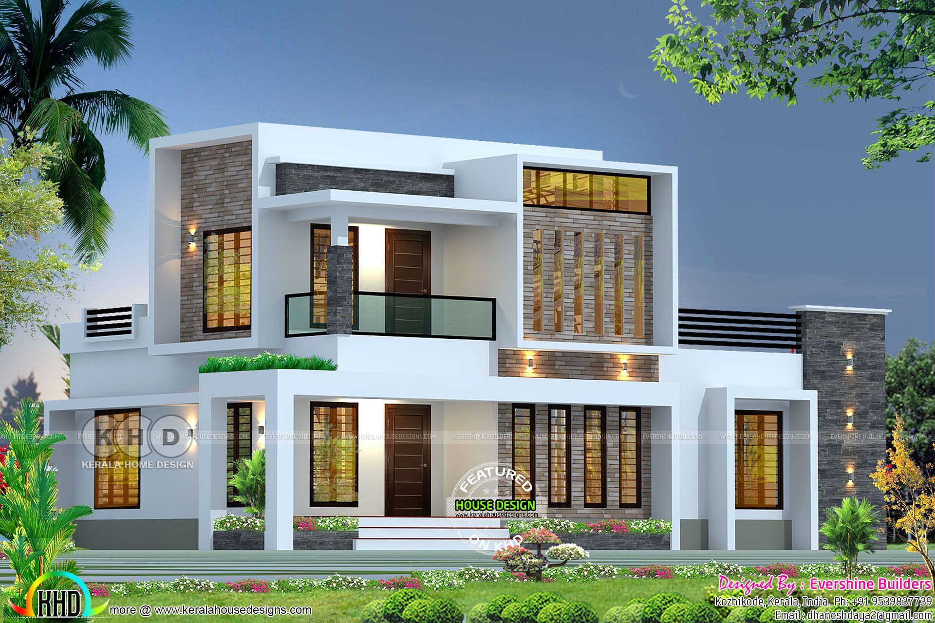 Box Model Modern 2200 Square Feet House In 2019 Simple