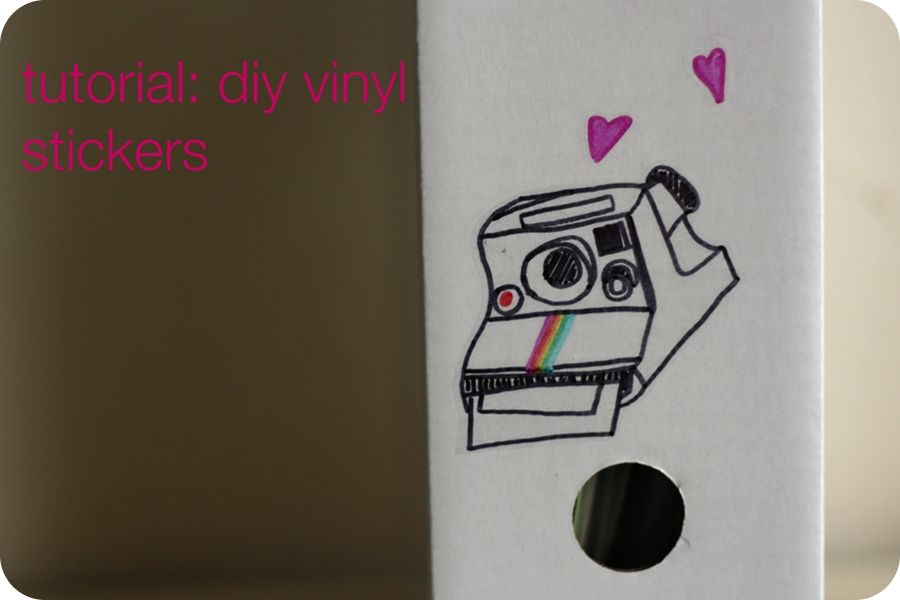 How To Make Your Own Vinyl Stickers Using Sharpies Contact Paper Some Creativity