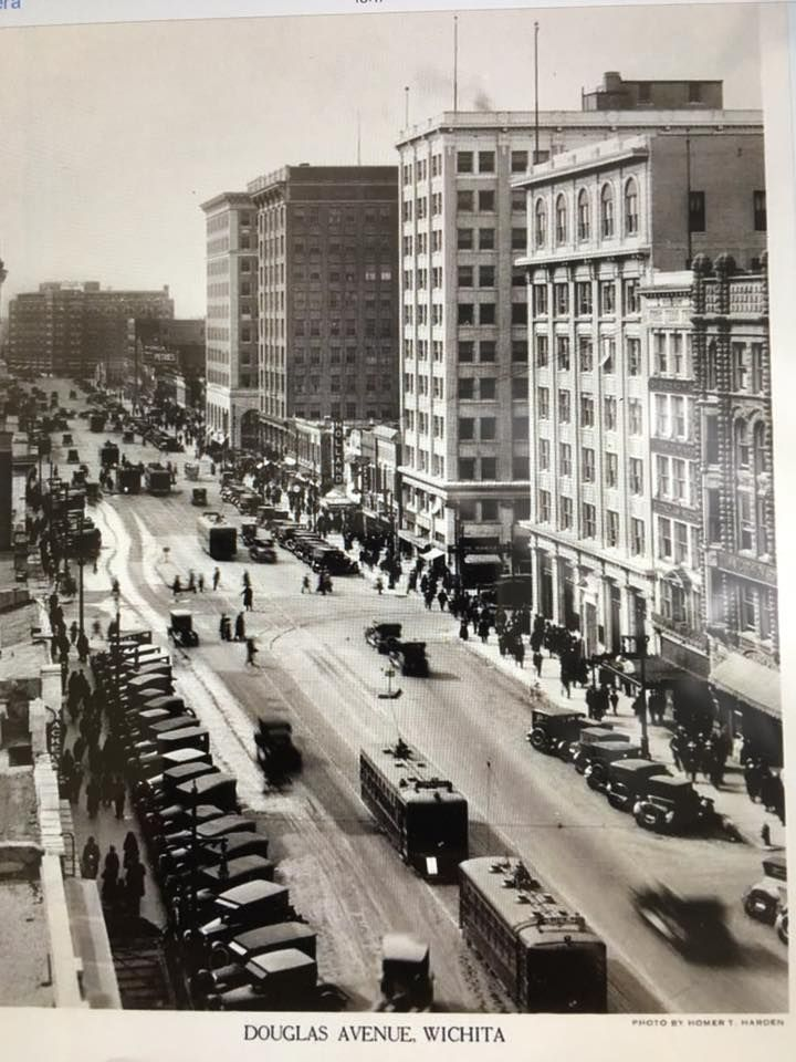 Downtown wichita probably in the 1920s judging by the