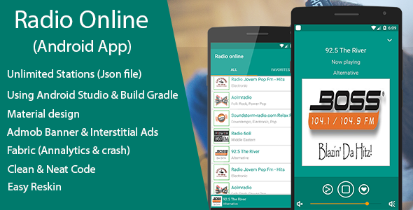 Online Radio - Streaming App with JSON file - Price $20