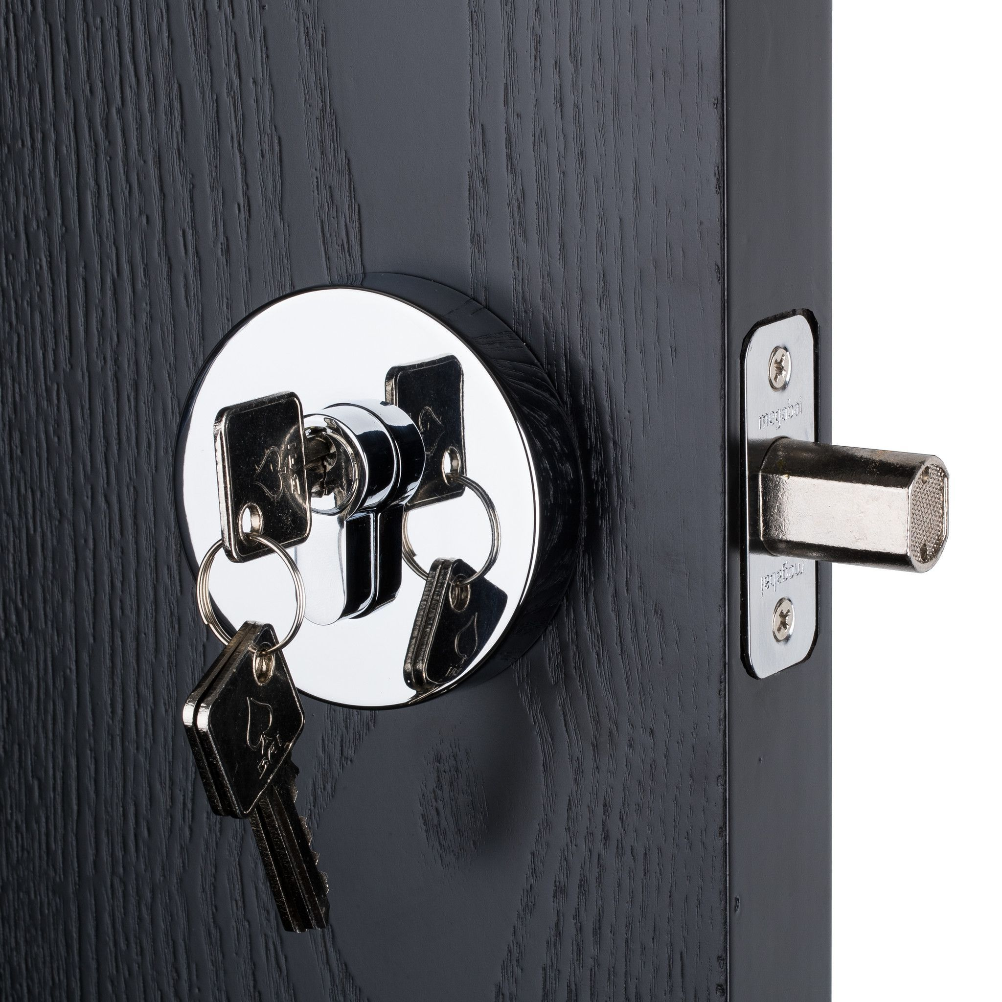 Contemporary Deadbolt Set Features Polished Chrome Finish High Quality Solid Construction Concealed Screw No Screw Chrome Finish Deadbolt Polished Chrome