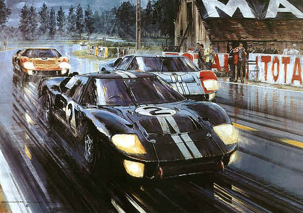 Formation Finish Now With 11 Autographs Art Cars Sports Art Le Mans