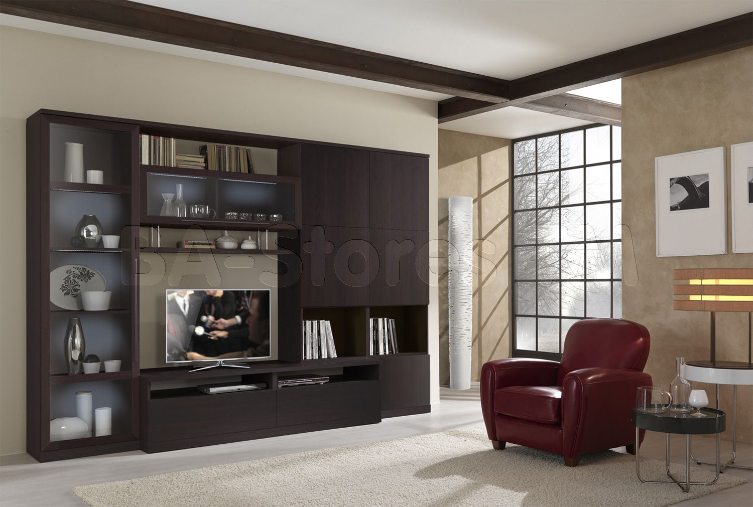 ST3000 Wall Unit In Wenge By ESF Furniture