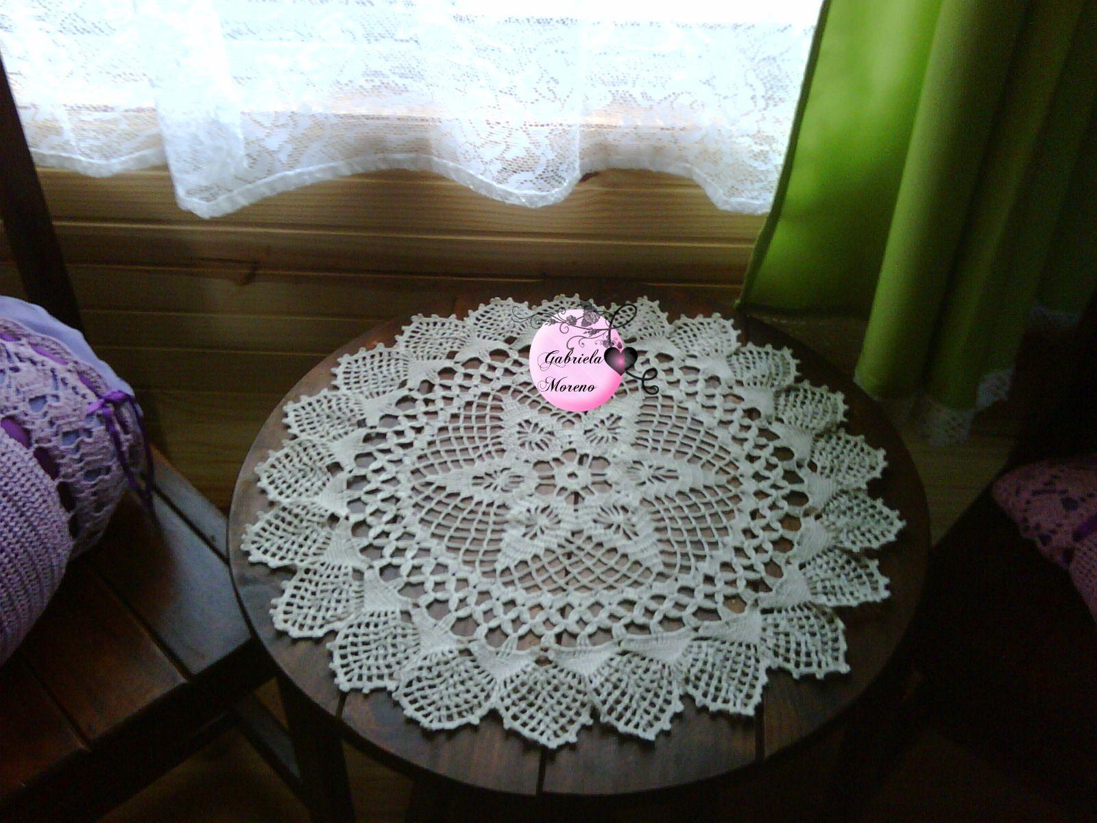 Nueva creaci n carpeta centro de mesa en crochet for Centros de mesa de ganchillo