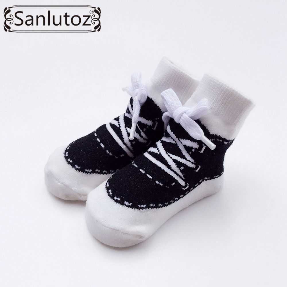 Sanlutoz Baby Socks New Born Sport Style Sneaker Socks for Infant Boys  Girls Christmas Holiday Birthday Gift 0-12 Months ec787734151