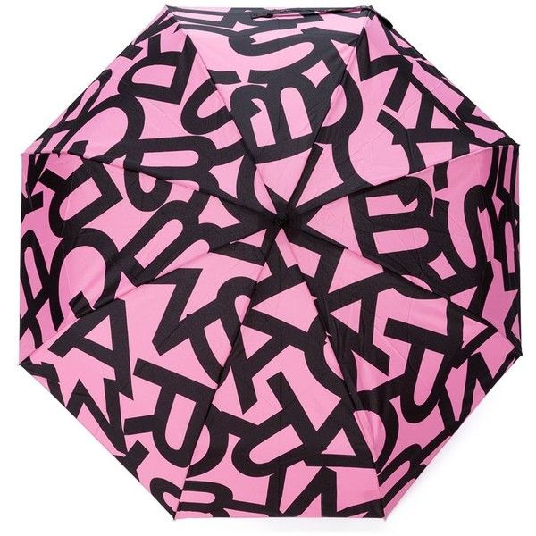 Marc By Marc Jacobs Letter Print Umbrella ($57) ❤ liked on Polyvore