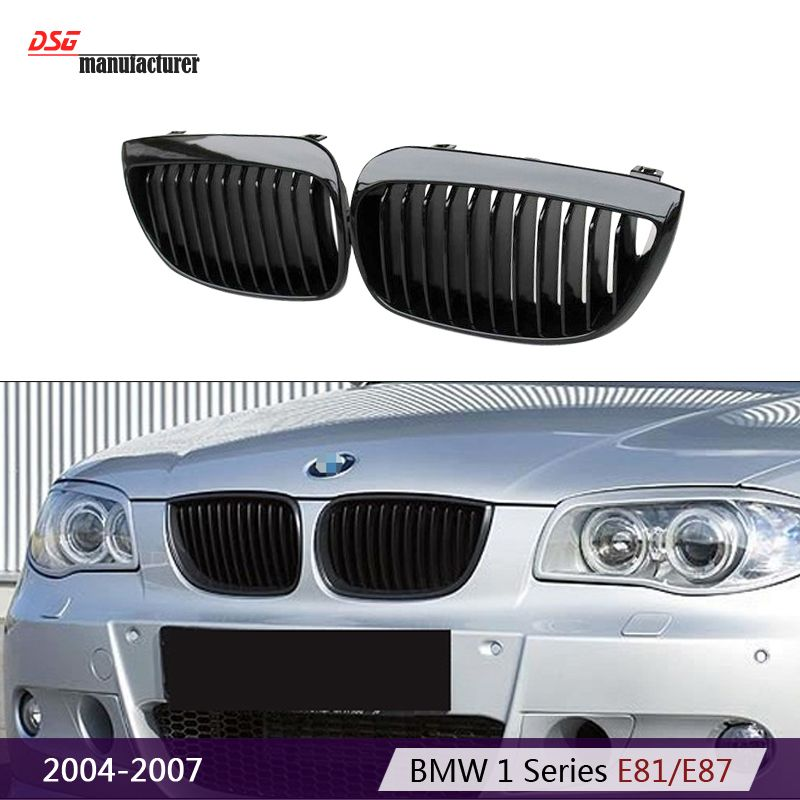 2004 2007 1 Series E81 E87 Abs Black Kidney Bumper Racing Grill
