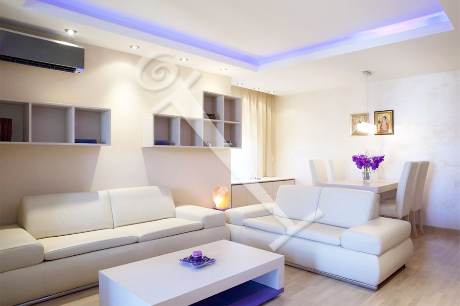 Gypsum Ceiling With Downlights Paint Colors For Living Room