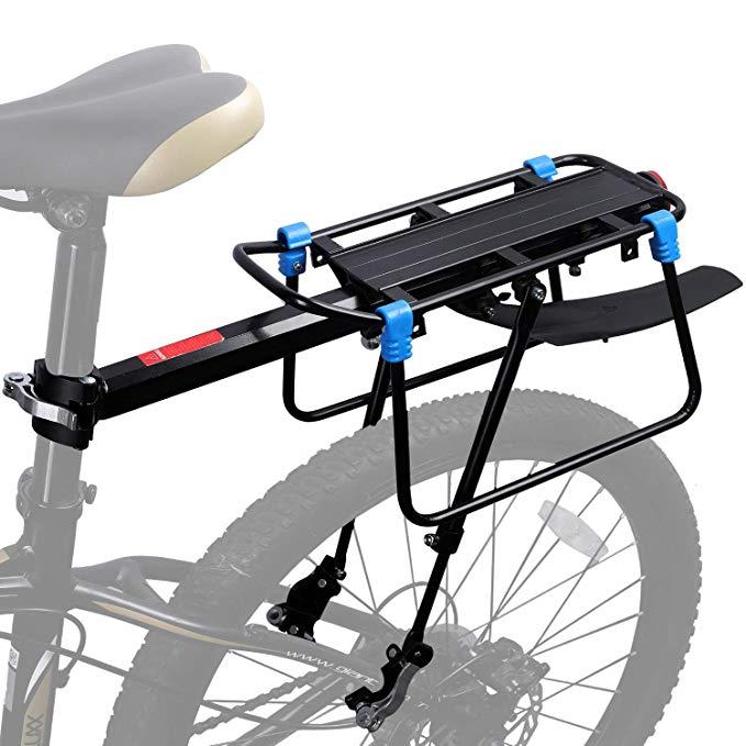 Bicycle Mountain Bike Carrier Rear Rack Seat Post Mount Pannier Luggage 50KG UK