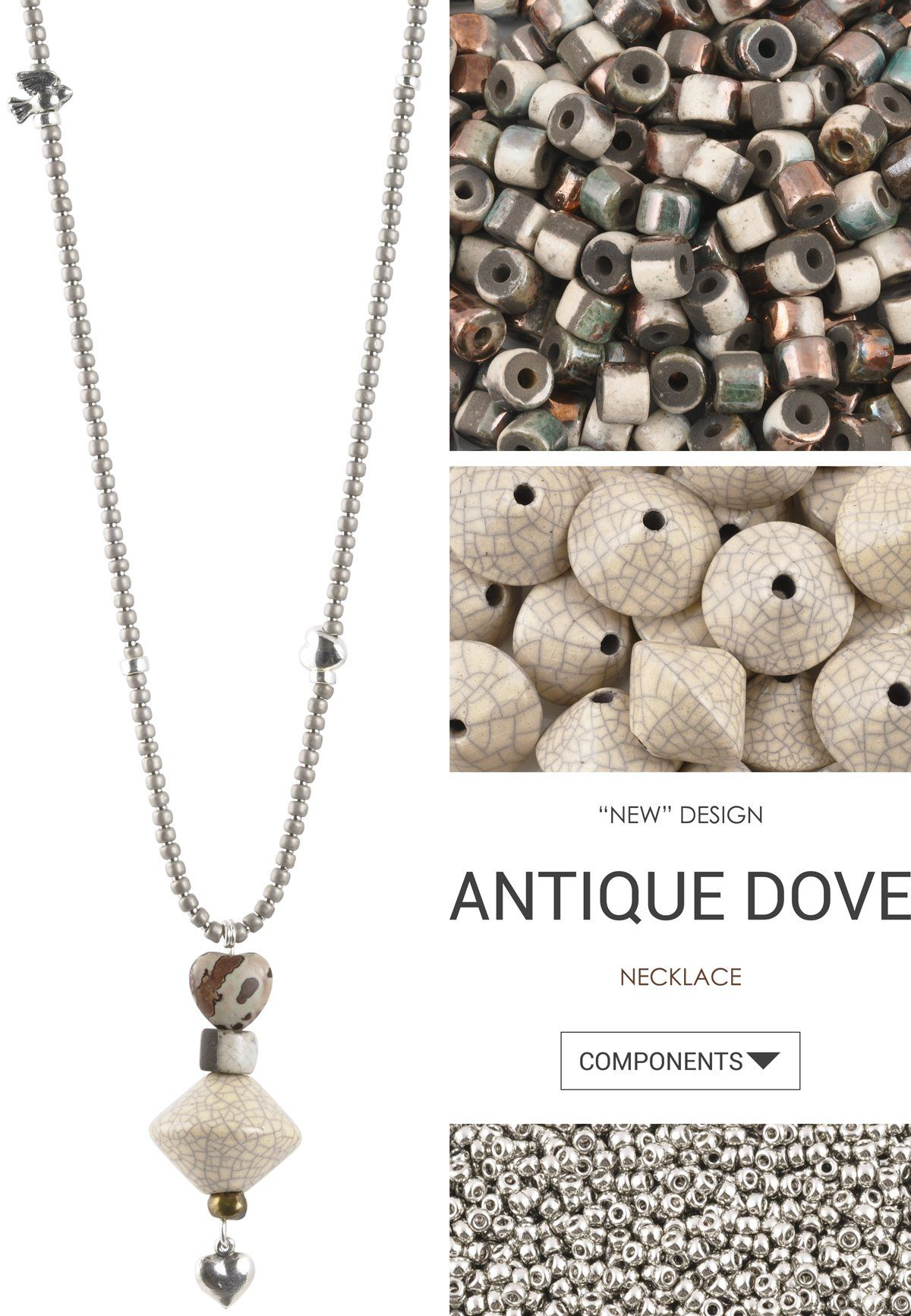 Antique Dove Necklace | Crimp beads, Wire clasp and Crimping