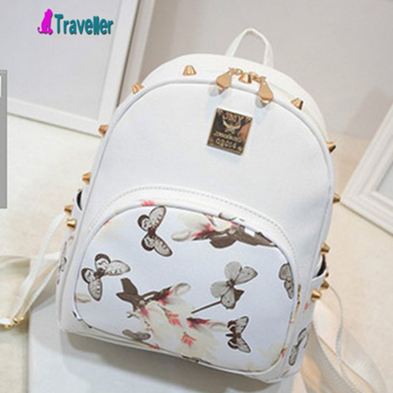 49fa2838cafa New Arrival FEMale Double Shoulder Bag PU Leather Backpack Daypack SMALL  CUTE Knapsack Travel Bags