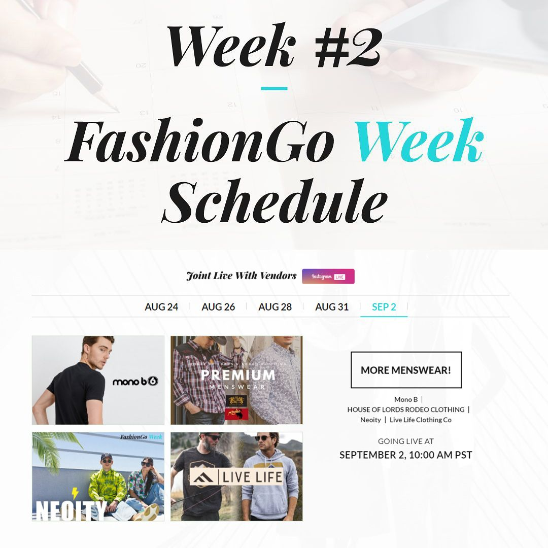 Fashiongo Week Virtual Trade Show In 2020 Fashiongo Live Life Clothing Men S Fashion Brands