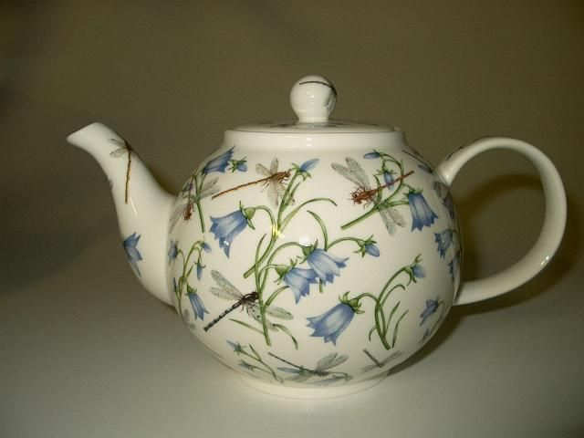 Dunoon Harebell 1 2l Teapot Fine Bone China Teteras Porcelana