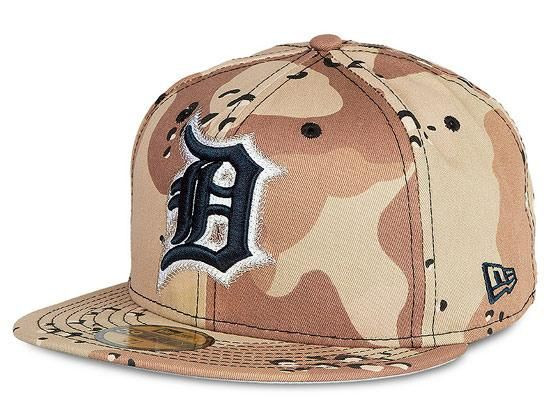 new products e4afd af809 ... low cost detroit tigers 6 day camo 59fifty fitted baseball cap by new  era x mlb