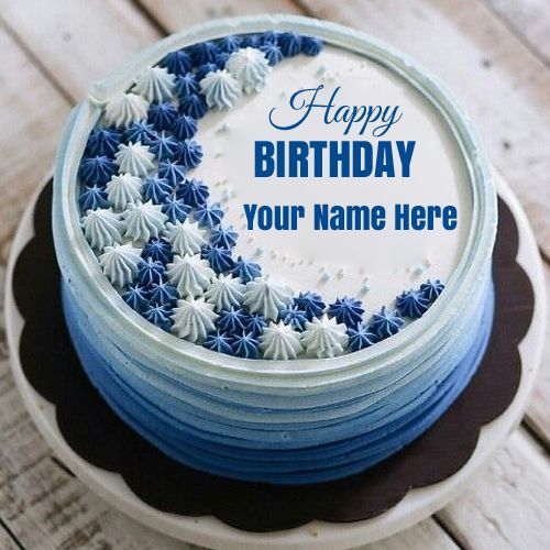 Happy Birthday Classic Buttercream Flower Cake With Name
