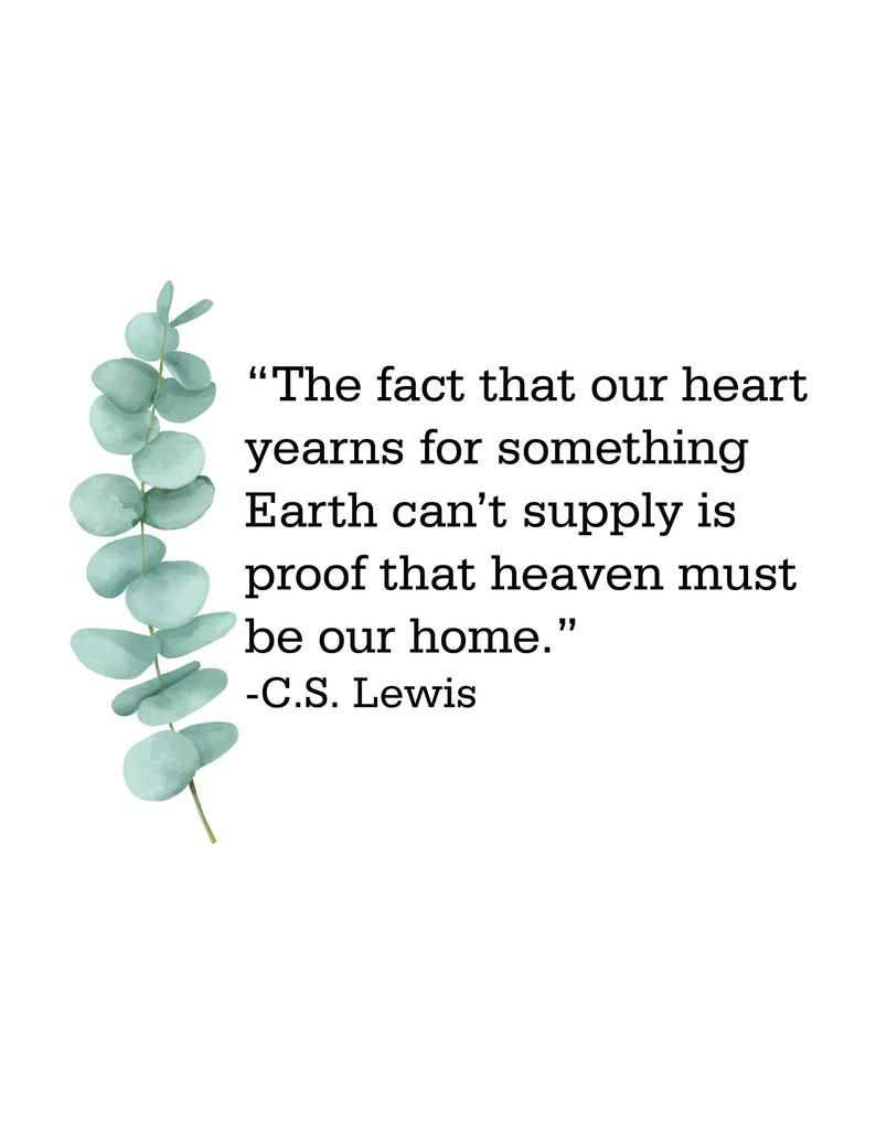 C.S. lewis quote  digital download only  digital print    Etsy