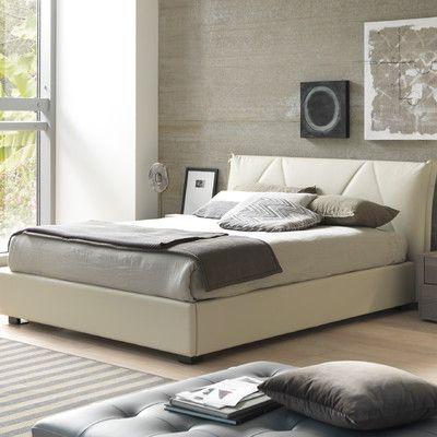 Creative Furniture Esprit Queen Upholstered Platform Bed Finish - Queen-size-bedroom-sets-creative