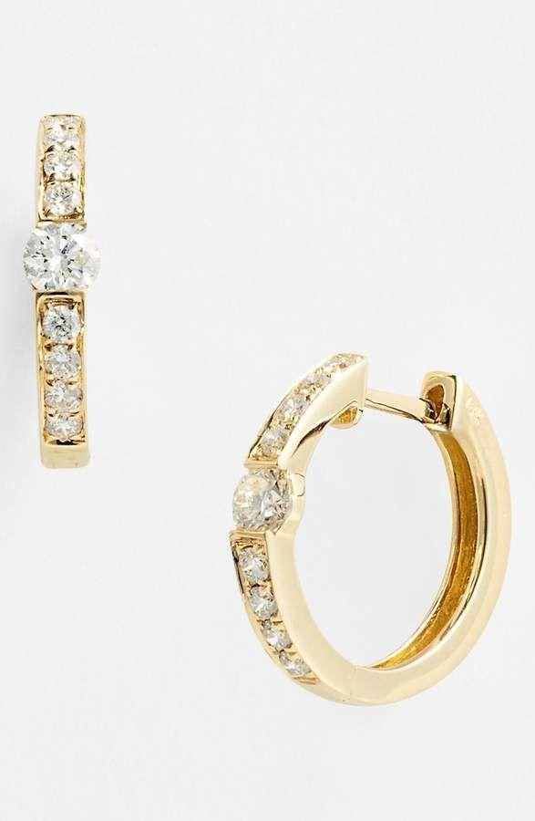 4119e12e2 Women's Bony Levy Linea Diamond Huggie Earrings (Nordstrom Exclusive ...