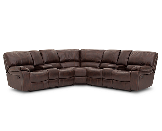 Sofas Triple Play 3 Pc. Console Loveseat Sectional Top Of The Line  Relaxation
