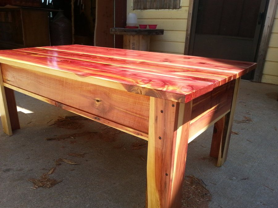 Stash Drawer By Todd Ba With Red Cedar Coffee Table