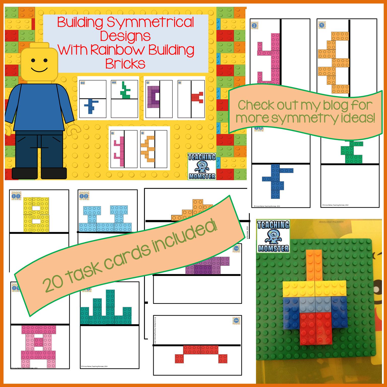 Symmetry Designs Using Building Bricks