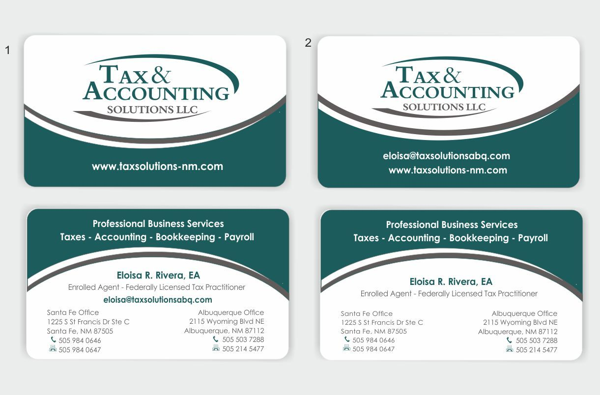 Business Cards Accountants Sample Images - Card Design And Card ...