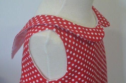 Tutorial de cuello Caperucita - Patrones para mamás que cosen solas