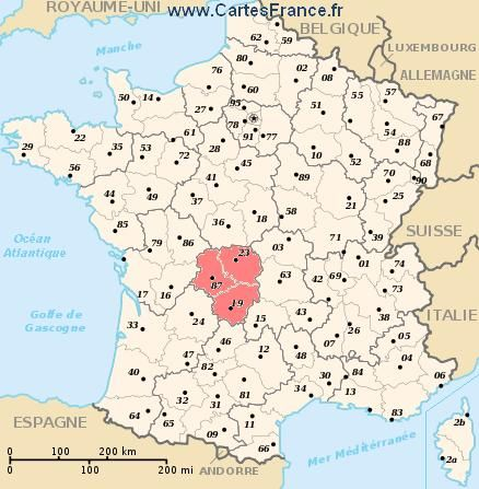 Carte Region Limousin With Images France Map