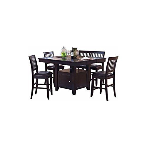 Kassel 9 Piece Counter Height Dining Table 8 Chairs In Espresso Luxury Appliances Counter Height Dining Table Table And Chair Sets