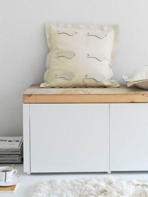 Idea para hacer un mueble de TV con un aparador sencillo + tabla de ...