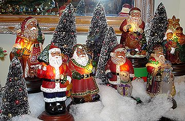Old World Christmas Santa Lights!  OWC has produced one a year for over 20 years!