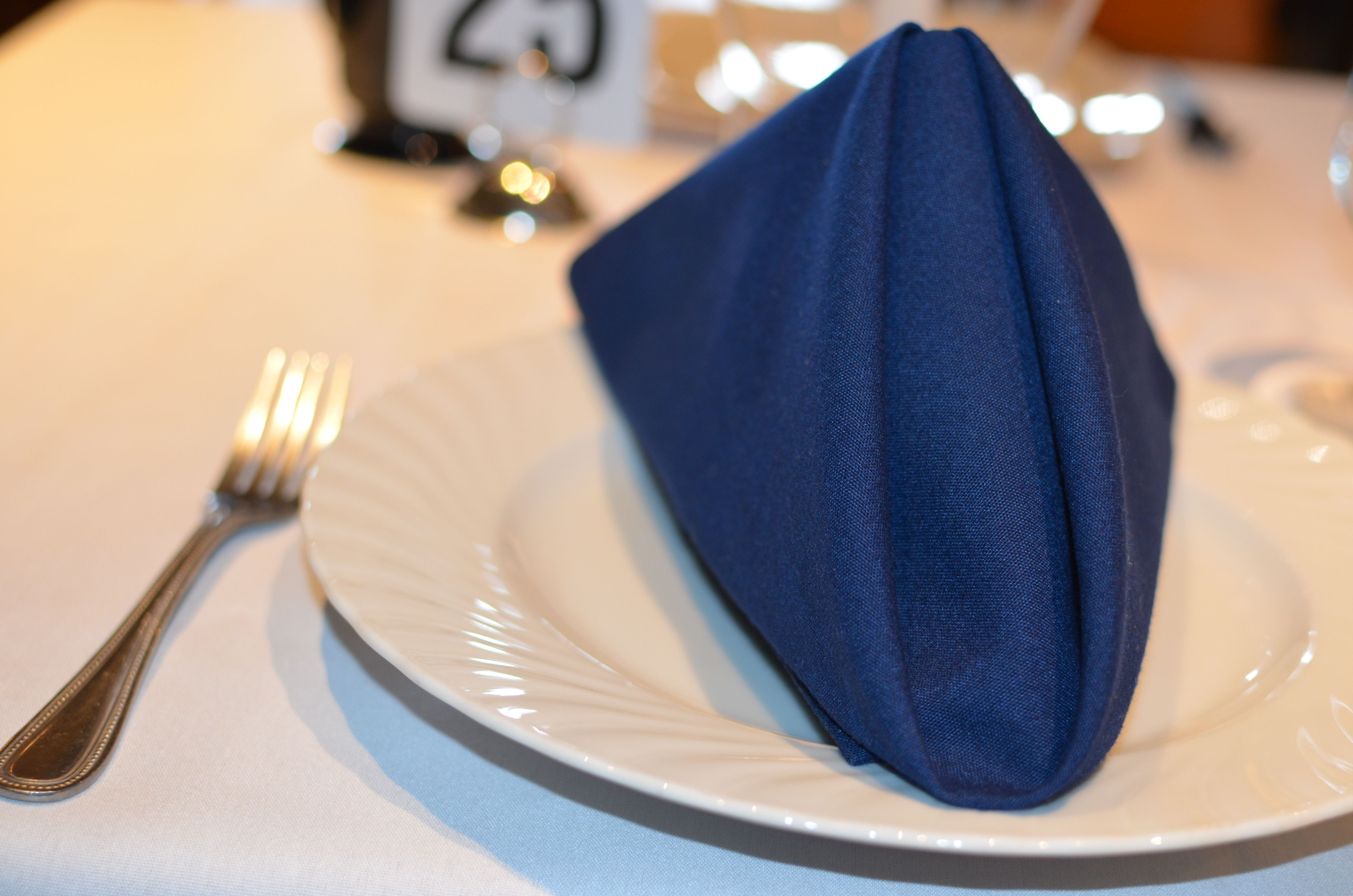 Our Regina plate with a tent fold napkin & Our Regina plate with a tent fold napkin | Optional Services ...