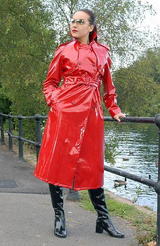 Red PVC Raincoat | Cosas para ponerse | Pinterest | Pvc raincoat ...
