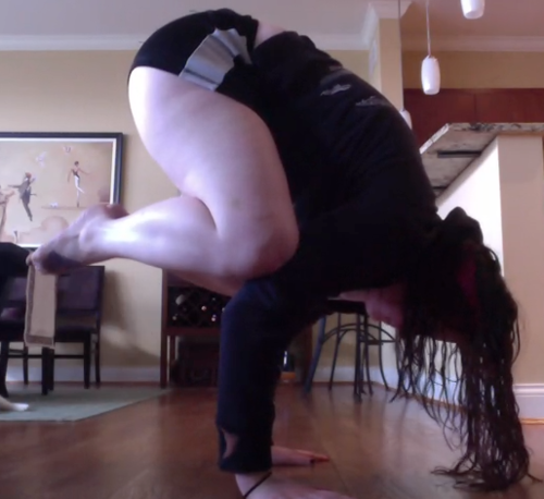 You don't have to be skinny to do yoga. ;D