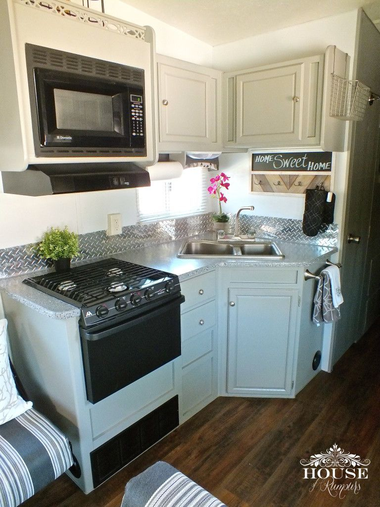5th Wheel, bathroom, camping, countertop paint, epoxy, fabric, Fifth ...