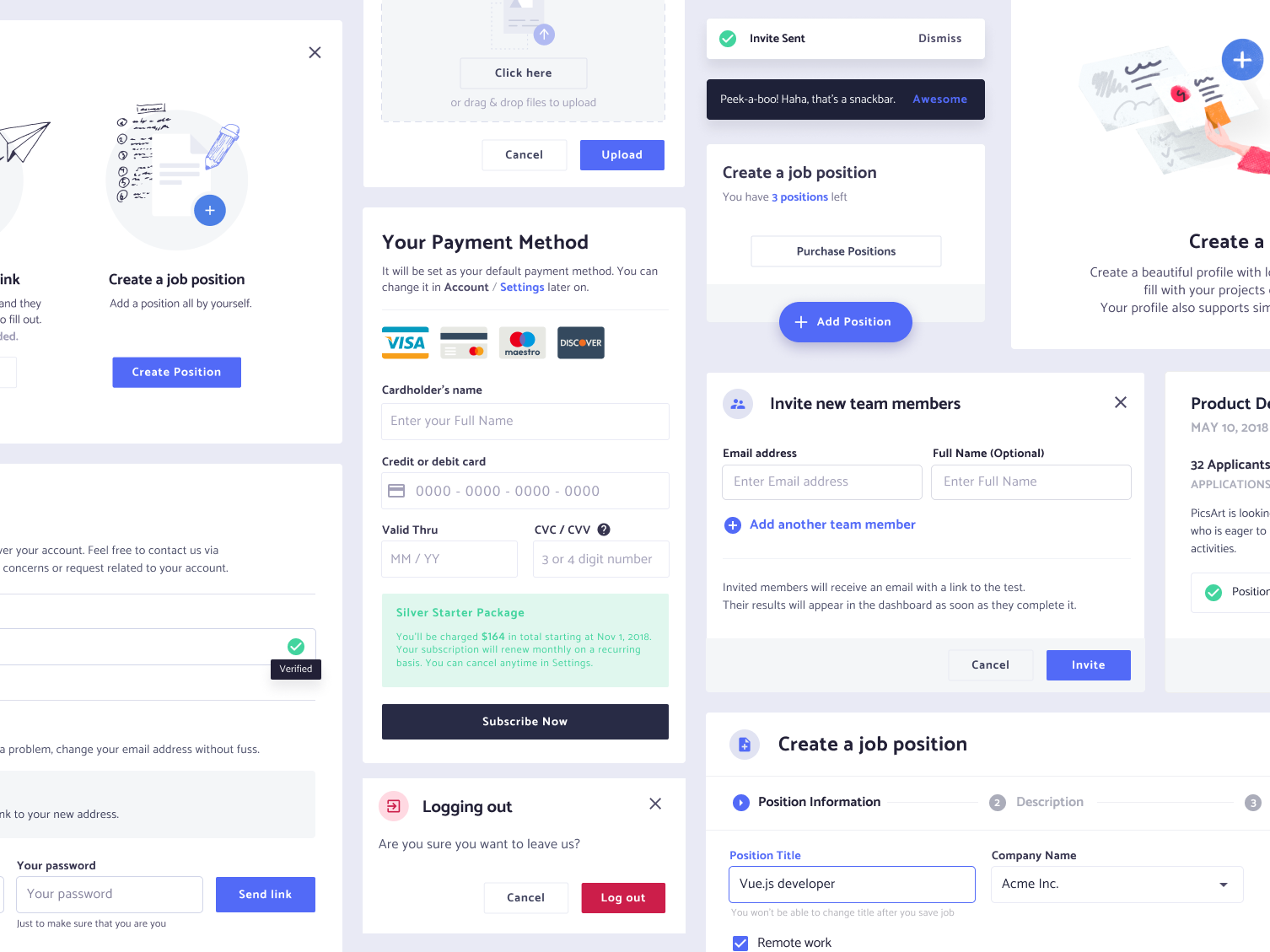 Component Library Design System Library Web Design