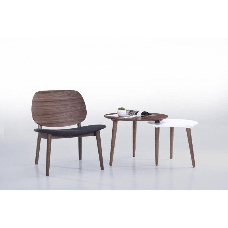 Le lot de 2 petits fauteuils rétro vintage RACHEL en tissu et bois