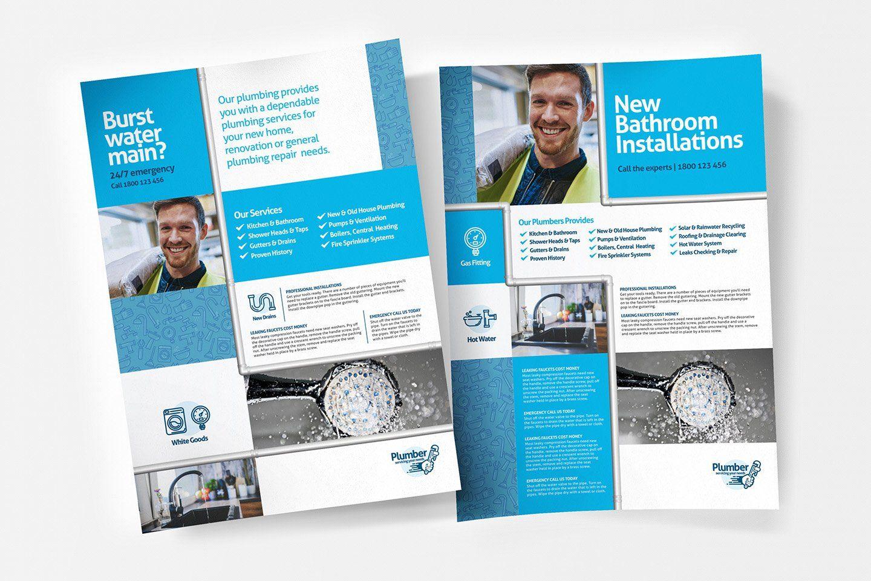 Plumbing Service Templates Pack Poster Template Plumbing