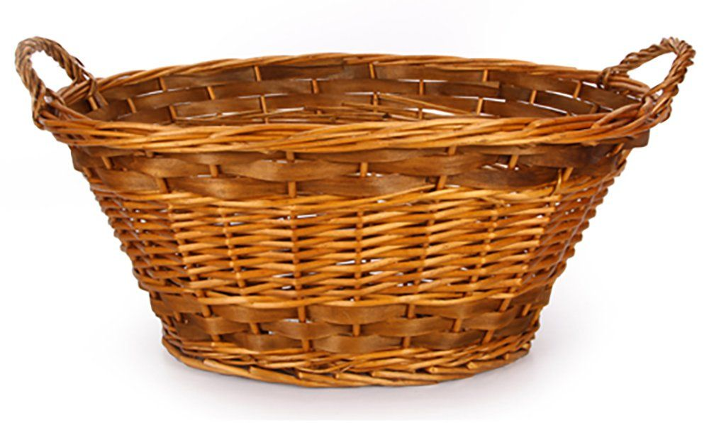 Willow Oval Wicker Laundry Basket With Images Wicker Laundry Basket Vintage Baskets Basket