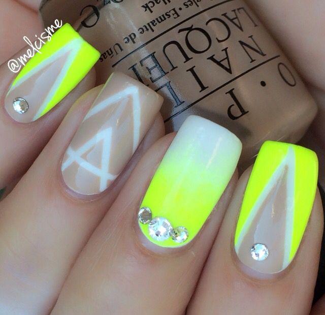 Nude & Neon nails | uñas | Pinterest | Diseños para uñas, Estetica y ...