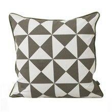 Large Geometry Cushion - Grey. Ferm Living.