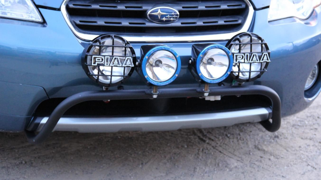 Rally innovations 2005 2009 subaru legacy outback light bar and skid plate with
