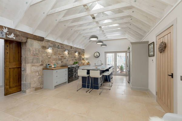 Kitchen with Island for a barn conversion Industrial Chic Kitchen