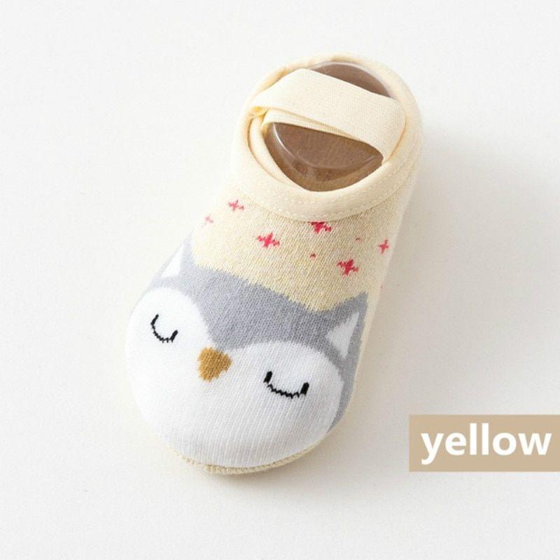 Socks Cartoon Cute Toddler Slipper Kids Cotton Baby Floor Shoes Non-slip