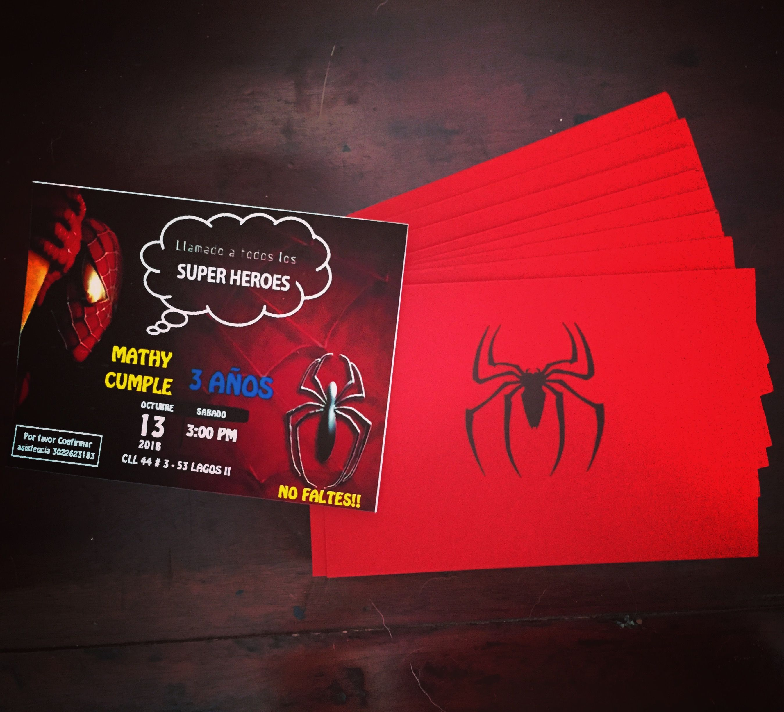 Tarjetas Invitacion Spiderman Invitacion De Spiderman